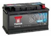 LR091092 YBX9115 4Yr Wrty 12V 80Ah 800A AGM Start Stop Plus Battery